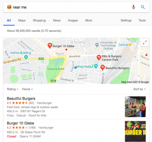 Emoji SEO - Ranking results for the burger emoji
